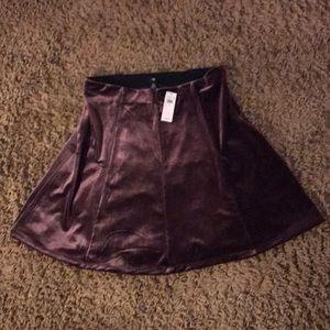 NWT Gap purple velvet skirt